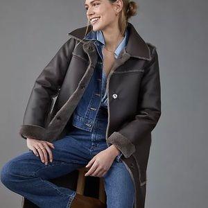 Anthropologie Reversible Faux Fur Coat - SP (NWT)